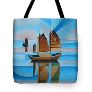 Blue Skies And Cerulean Seas Tote Bag by Tracey Harrington-Simpson