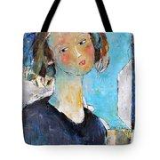 Blue Sonata Tote Bag by Becky Kim