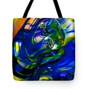 Blue Swirls Tote Bag by David Patterson
