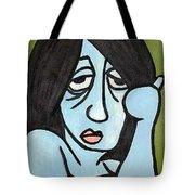 Blue Tote Bag by Thomas Valentine