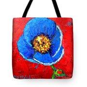 Blue Tibetan Poppy Tote Bag by Ana Maria Edulescu