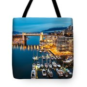 Blue Vancouver Morning Tote Bag by James Wheeler