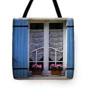 Blue Window Shutters Tote Bag by Georgia Fowler