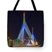 Blue Zakim Tote Bag by Joann Vitali