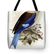 Bluebellied Roller Tote Bag by Johan Gerard Keulemans