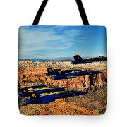 Blues Over Zion Tote Bag by Benjamin Yeager