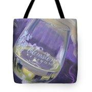 Bluestone Vineyard Wineglass Tote Bag by Donna Tuten