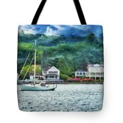 Boat - A Good Day To Sail Tote Bag by Mike Savad