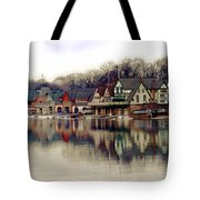Boathouse Row Philadelphia Tote Bag by Tom Gari Gallery-Three-Photography