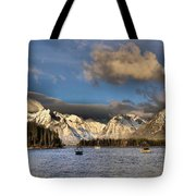 Boating In The Tetons Tote Bag by Dan Sproul