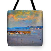 Boats In Piermont Harbor Ny Tote Bag by Ylli Haruni