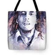 Bob Marley 3 Tote Bag by Yuriy  Shevchuk