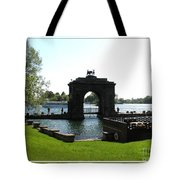 Boldt Castle Entry Arch Tote Bag by Rose Santuci-Sofranko