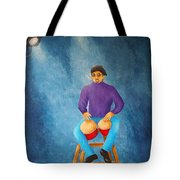 Bongo Man Tote Bag by Pamela Allegretto