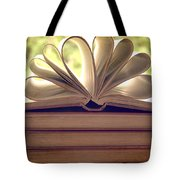 Book Flower Tote Bag by Nomad Art And  Design