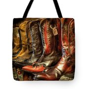 Boot Rack Tote Bag by Michael Pickett