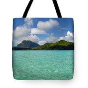 Bora Bora Green Water Tote Bag by Eva Kaufman