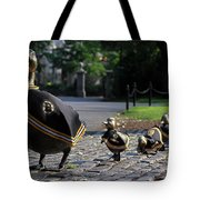 Boston Bruins Ducklings Tote Bag by Juergen Roth