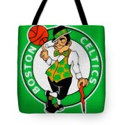 Boston Celtics Canvas Tote Bag by Dan Sproul