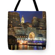 Boston Harbor Party Tote Bag by Joann Vitali