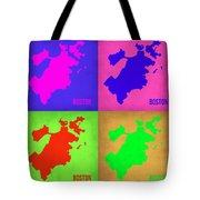 Boston Pop Art Map 1 Tote Bag by Naxart Studio