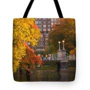 Boston Public Garden Lagoon Bridge Tote Bag by Joann Vitali