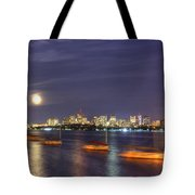 Boston Skyline From Memorial Drive Tote Bag by Joann Vitali