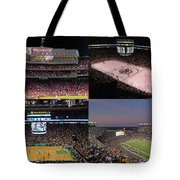Boston Sports Teams and Fans Tote Bag by Juergen Roth