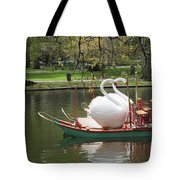 Boston Swan Boats Tote Bag by Barbara McDevitt