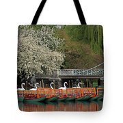 Boston Swan Boats  Tote Bag by Juergen Roth
