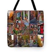 Boston Tourism Collage Tote Bag by Joann Vitali