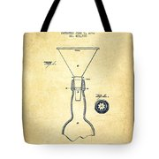 Bottle Neck Patent From 1891 - Vintage Tote Bag by Aged Pixel
