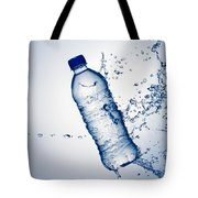 Bottle Water And Splash Tote Bag by Johan Swanepoel
