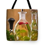 Bottles Of Olive Oil Tote Bag by Amanda And Christopher Elwell