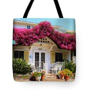 Bougainvillea House Tote Bag by Cheryl Young