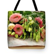 Bouquet In The Making Tote Bag by Lainie Wrightson