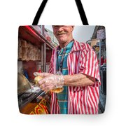 Bourbon Street - Lucky Dog And A Smile Tote Bag by Steve Harrington