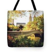 Bow Bridge - Autumn - Central Park Tote Bag by Vivienne Gucwa