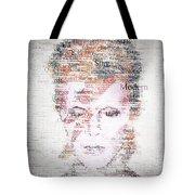 Bowie Typo Tote Bag by Taylan Soyturk