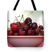 Bowl Of Cherries Closeup Tote Bag by Carol Groenen