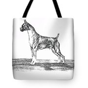 Boxer Tote Bag by Joann Renner