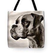 Boxer Profile Tote Bag by Lana Trussell