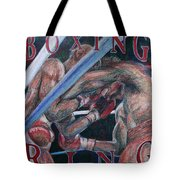 Boxing Ring Tote Bag by Kate Fortin