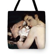 Boy with a Cat Tote Bag by Pierre-Auguste Renoir