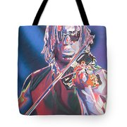 Boyd Tinsley Colorful Full Band Series Tote Bag by Joshua Morton