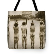 Boys Bathing in the Park Clapham Tote Bag by English Photographer