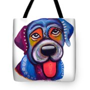 Brad The Labrador Tote Bag by Jill English