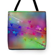Branches In The Mist 17 Tote Bag by Tim Allen