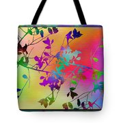 Branches In The Mist 22 Tote Bag by Tim Allen