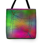 Branches In The Mist 23 Tote Bag by Tim Allen